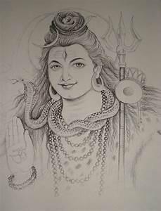 Lord Shiva Pencil Sketch   Lord Shiva Pencil Drawing ...