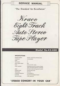 Original Service Manual  Kraco 8