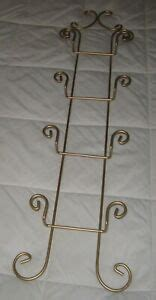 wall  plate display rack wrought iron gold  high   wide ebay