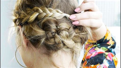 Messy Braided Updo For Short Hair