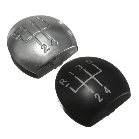 renault 4 gear shift chrome black car automobile gear shift knob cap shifter