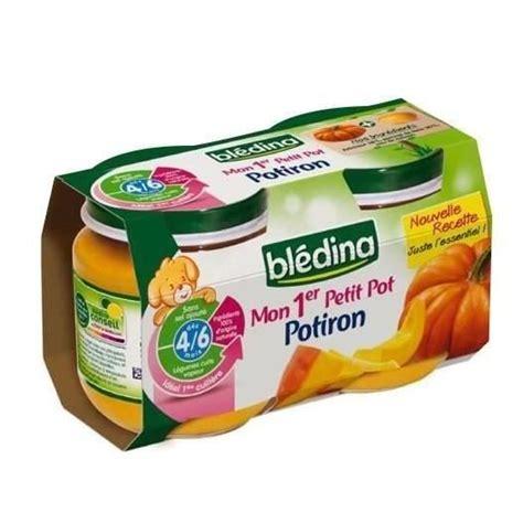 rapport qualité prix cuisine bledina mon 1er petit pot potiron 2x130g achat vente dessert fruits bébé bledina mon 1er