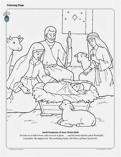Jesus Birth Christ Coloring Primary Pages Joy