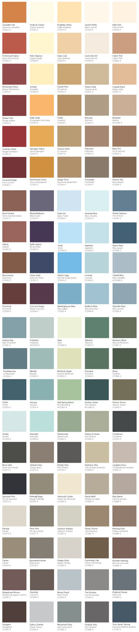 classic colours of canada colour gallery home hardware