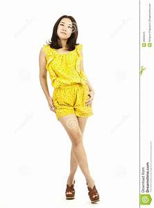 Beautiful Full Body Asian Woman Portrait Stock Image ...