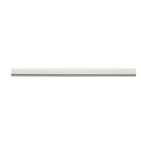ceramic tile molding trim jeffrey court weather grey pencil 3 4 in x 12 in ceramic molding tile 99359 the home depot