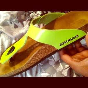 off Birkenstock Shoes Gizeh Lime Green Birkenstocks