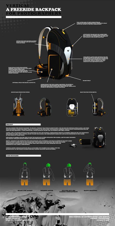 vertical freeride backpack  behance