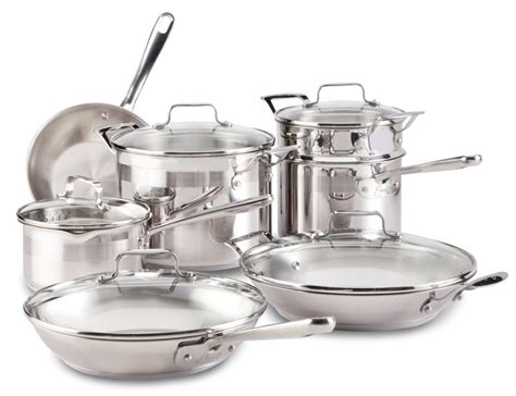 cookware stainless steel emeril clad chef piece kitchen chefs professional silver emerilware sets pans pots dishwasher safe usa master aluminum
