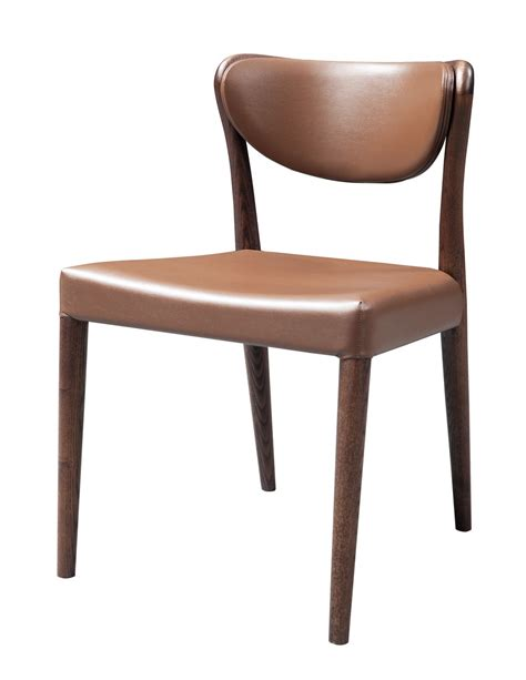 union modern brown oak dining chair set of 2
