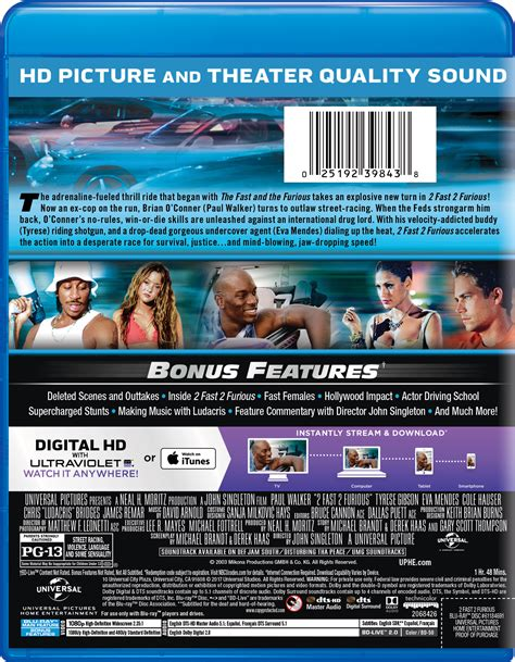 2 Fast 2 Furious  Movie Page  Dvd, Bluray, Digital Hd