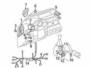 Toyota Mr2 Spyder Instrument Panel Wiring Harness  Inside