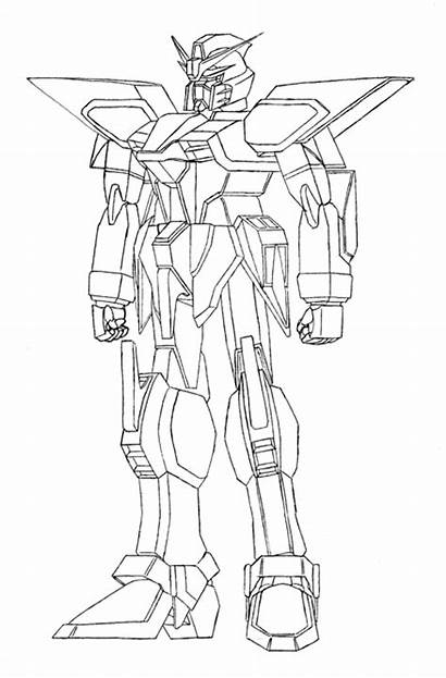 Coloring Steel Pages Robot Gundam Anime Robots