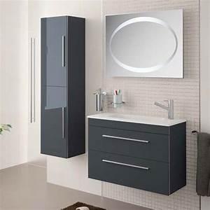 meuble salle de bain 80 cm 2 tiroirsvasque mineral serie 35 With salle de bain design avec vasque 35 cm