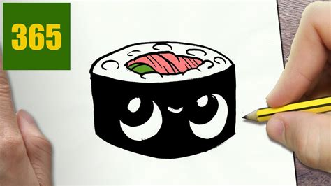 disegnare sushi kawaii passo dopo passo disegni kawaii facile youtube