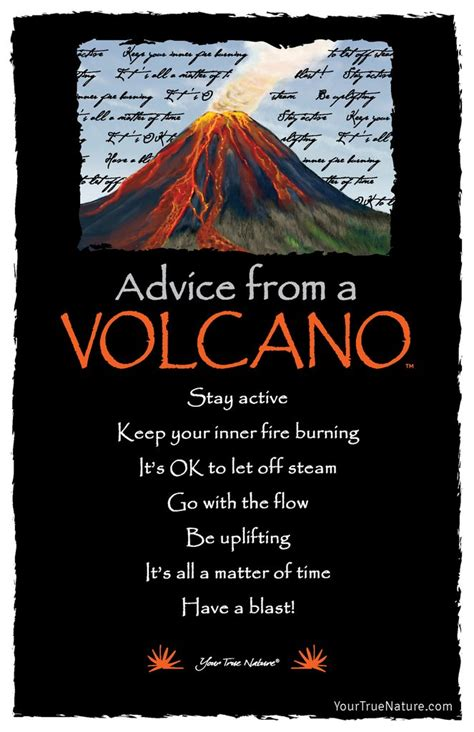 advice   volcano frameable art postcard  true