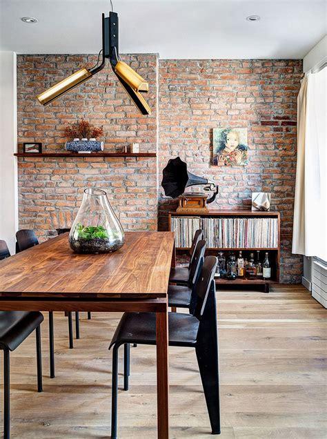 renovated  brooklyn home  brick walls  gradient