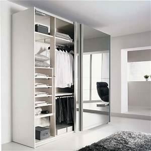 Armoire Porte Miroir : armoires portes coulissantes miroir mobilier sur ~ Teatrodelosmanantiales.com Idées de Décoration