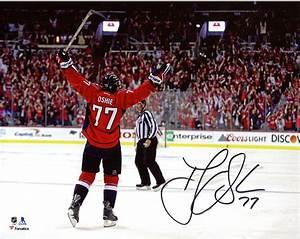 """T.J. Oshie Washington Capitals Autographed 8"""" x 10"""" Goal ..."""