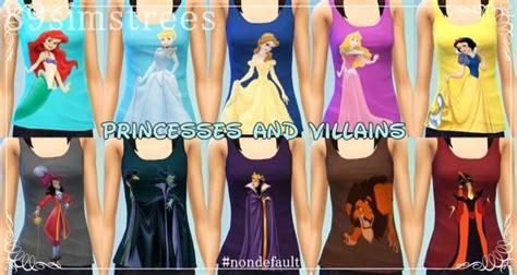 disney princesses  villains tops  simstrees