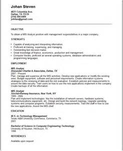 resume objective statement for engineering internship interview mis analyst resume exle free templates collection