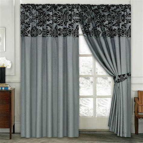 Bedroom Curtains by Damask Half Flock Pair Of Bedroom Curtain Living Room