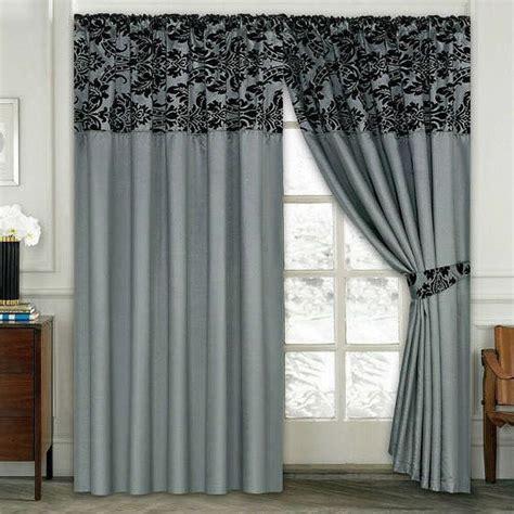 damask  flock pair  bedroom curtain living room
