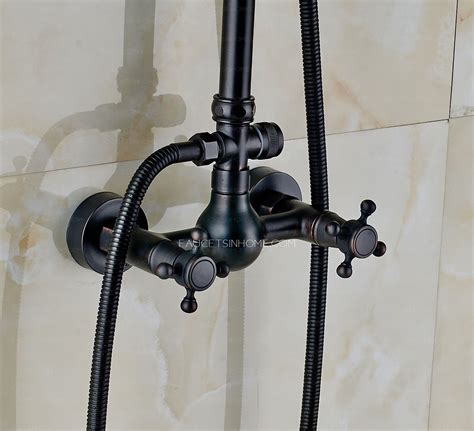 matte black oil rubbed bronze shower fixture   shower