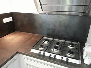 Crédence Béton Ciré : beton cire cuisine plan de travail credence sol ~ Premium-room.com Idées de Décoration
