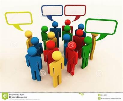 Culture Talking Different Mensen Cultuur Verschillende Spreken