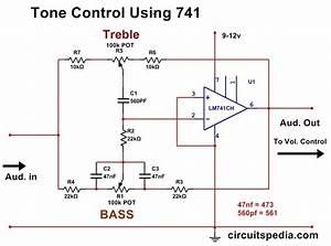 Bass Treble Tone Control Circuit Using Opamp