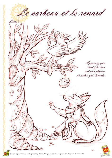 recette de cuisine lapin coloriage corbeau renard sur hugolescargot com
