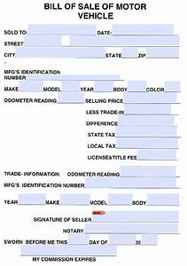 Bill Of Sale Form Automobile Free Cumberland County Tennessee Vehicle Bill Of Sale