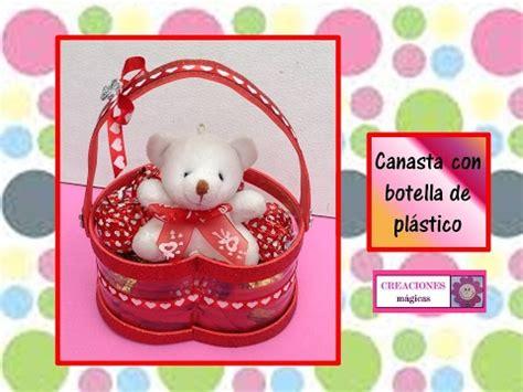 regalos para el 14 de febrero canasta hecha con botella de plastico creaciones m 225 gicas