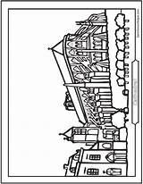 Cathedral Coloring Church Printable Sheet Looks Know sketch template