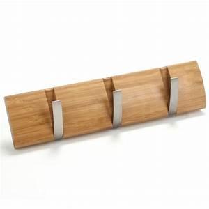 patere bambou 3 crochets maison futee With porte d entrée alu avec meuble salle de bain maxi bazar