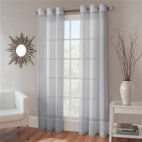 blue crushed voile curtains buy blue sheer curtains from bed bath beyond