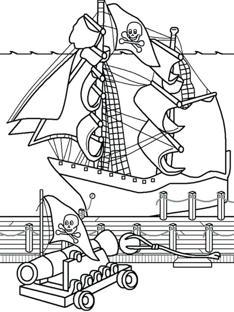 Pirate Ship Coloring Page by Sunken Ship Coloring Pages At Getcolorings Free