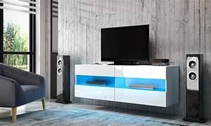 Meuble Tv Suspendu Led : meuble tv led suspendu groupon shopping ~ Melissatoandfro.com Idées de Décoration