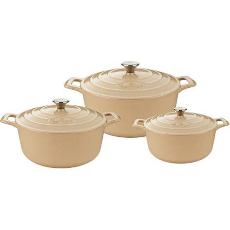 casserole cuisine la cuisine cast iron casserole set with enamel