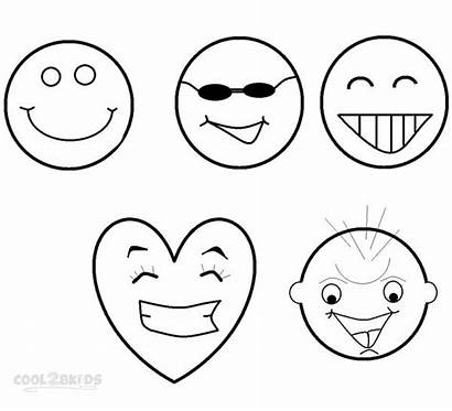 Coloring Face Smiley Pages Printable Smiling Faces