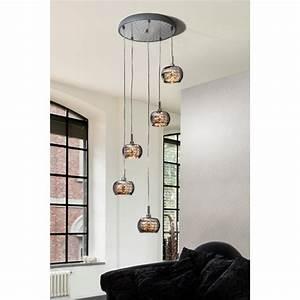 Luminaire Suspension Design : luminaire suspension pendante design 5 lampes ~ Teatrodelosmanantiales.com Idées de Décoration