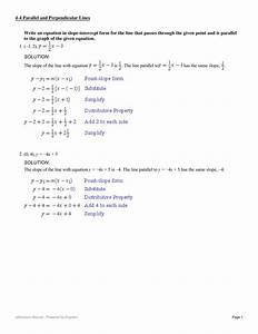 Write An Equation In Slope
