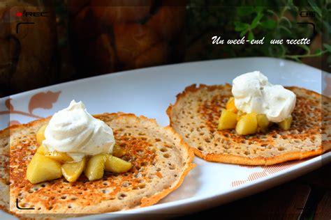 pate a crepe epaisse cr 234 pes 233 paisses aux deux pommes et chantilly vanille gingembre mes recettes du week end