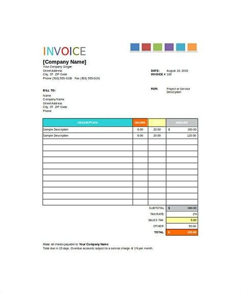 house painting invoice templates painting invoice