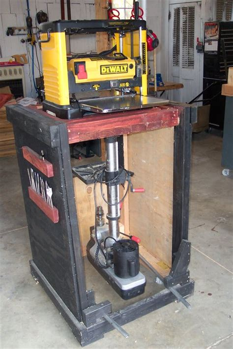 flip top tool stand  planer  drill press
