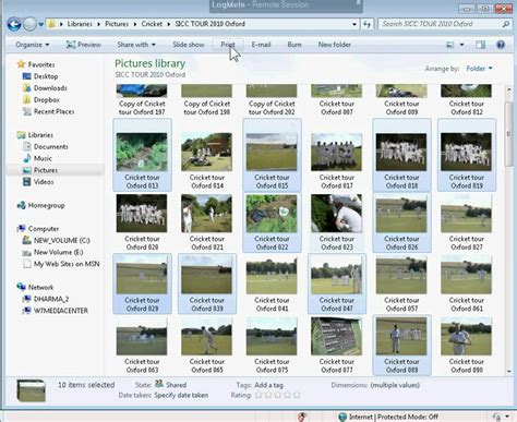 how to print multiple images selections from a folder onto one page youtube