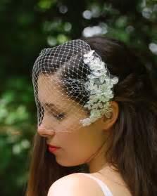 bibi mariage voilette bibi vintage mariee applique en dentelle et cristaux accessoires coiffure par mariafelea
