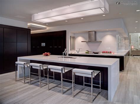 lights  kitchen ceiling modern kitchen waterfall island cement waterfall kitchen island