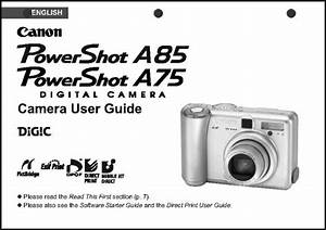 Canon Powershot A75 A85 Digital Camera User Guide
